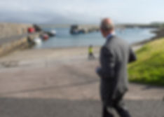 Prince Charles, The Prince of Wales at the harbour at Mullaghmore, Sligo