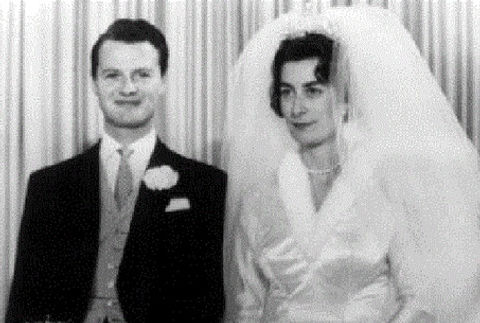 David Hicks & Lady Pamela Mountbatten following their wedding 