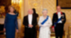 Mrs Higgins, President Michael D. Higgins, Queen Elizabeth II & Prince Philip, The Duke of Edinburgh at the State Banquet in honour of the President of Ireland at Windsor Castle ​
