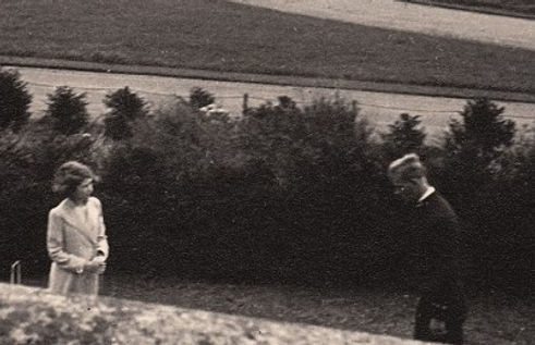 A photograph of Philip playing croquet with Princess Elizabeth (now Queen Elizabeth II) during the Royal Family's visit to the Royal Naval College, Dartmouth 