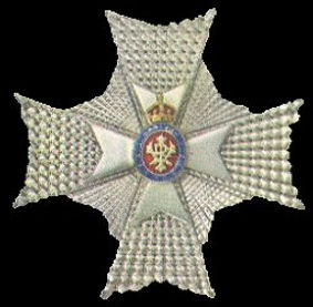 The insignia of a Dame Commander of the Royal Victorian Order (DCVO) 