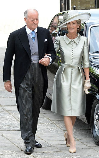 Norton & Penelope at the wedding of their daughter - Alexandra to Thomas Hooper at Romsey Abbey in June 2016