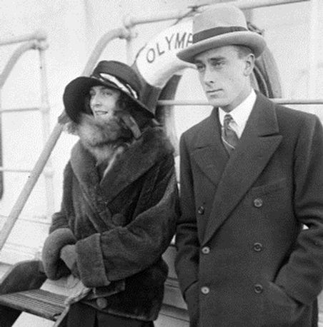 Edwina & Mountbatten on board RMS Olympic homeward boundafter their honeymoon 
