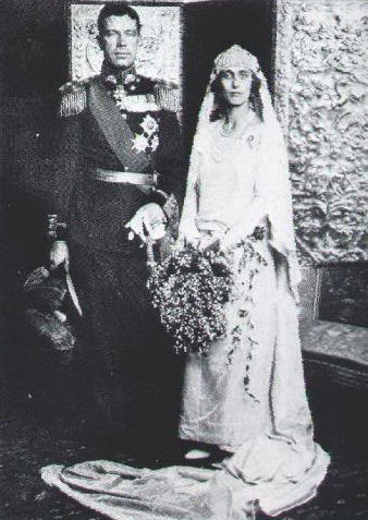 Crown Prince Gustaf Adolf of Sweden & Louise on their wedding day