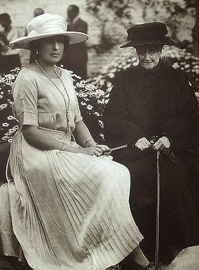 Victoria Eugénie with her god-mother -  Empress Eugénie of France 