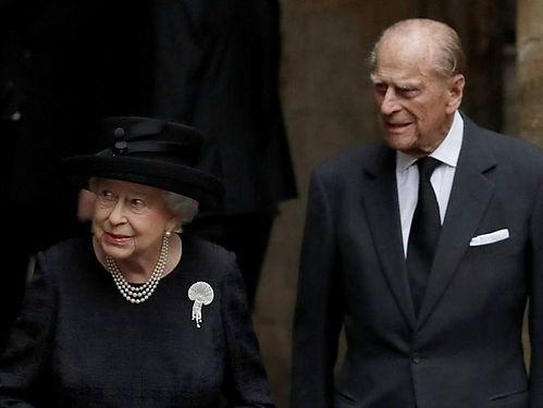 Queen Elizabeth II & Prince Philip, The Duke of Edinburgh at Patricia's funeral