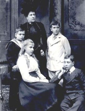 Princess Beatrice in widowhood with her 4 children 