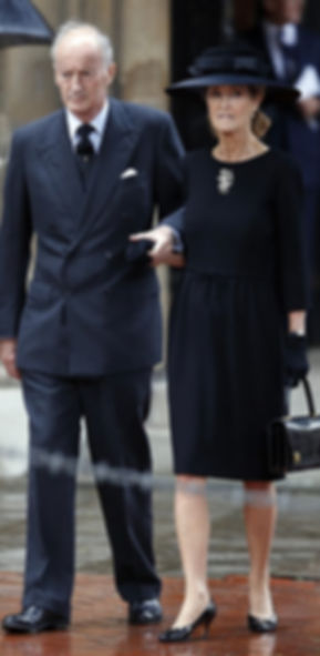 Norton & Penelope at the funeral of his mother - Patricia, 2nd Countess Mountbatten of Burma at St Paul's Church, Knightsbridge, London in June 2017
