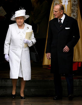 Queen Elizabeth II & Prince Philip, Duke of Edinburgh leaving Westminster Abbey following their Diamond Wedding Anniversary Service of Thanksgiving