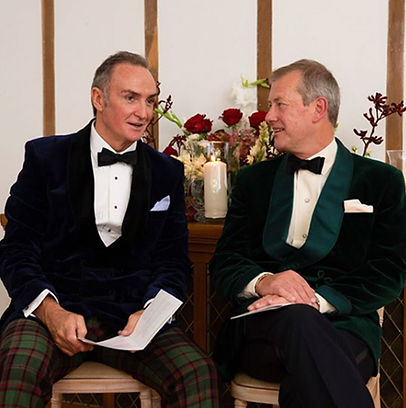 James Coyle & Lord Ivar Mountatten on their wedding day ​