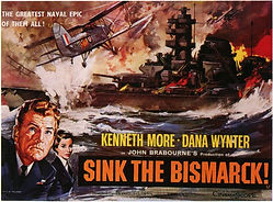 "Film poster for ""Sink The Bismark!"" ​"