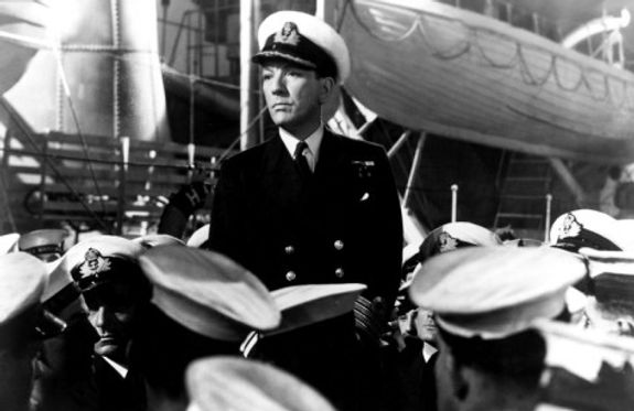"""Sir Noël Coward in the role of """"Captain Kinross"""" in the film """"In Which We Serve"""""""