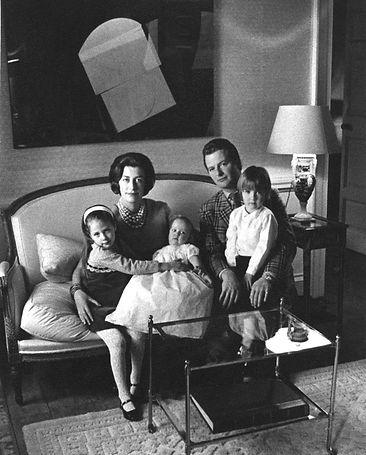 Pamela & David Hicks with their children - Edwina, baby India & Ashley