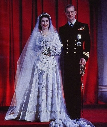 Princess Elizabeth  (now Queen Elizabeth II)  & Prince Philip,  Duke of Edinburgh