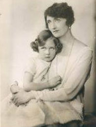  Iris in the arms of her mother -  Irene, The Marchioness of Carisbrooke 