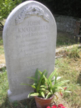 The joint grave of Patricia, 2nd Countess Mountbatten of Burma & her husband - John, 7th Lord Brabourne at St John the Baptish Church, Mersham, Kent 