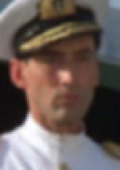 Peter Harlowe portraying Mountbatten