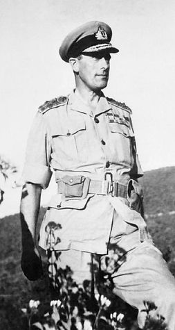 Mountbatten in February 1944 on his visit to the Arakan Front