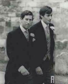 Prince Charles, The Prince of Wales (left) accompanying Norton (then Lord Romsey) to Romsey Abbey for his marriage to Miss Penelope Eastwood