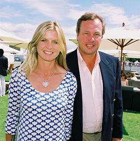 Clare & George - at a polo match ​