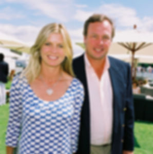 Clare & George - at a polo match 