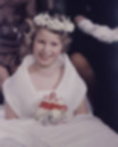 Princess Anne, later The Princess Royal as a bridesmaid