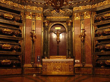 Victoria Eugénie's final resting place -  the Royal Vault at the Royal Site of San Lorenzo de El Escorial, Madrid