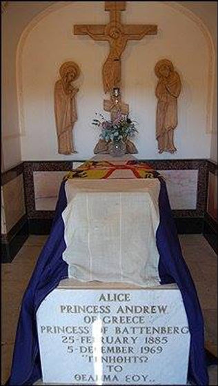 Alice's grave at The Church of St Mary Magdalene on the Mount of Olives, Jerusalem ​