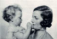 Pamela with her mother - Edwina, Countess Mountbatten of Burma 