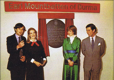 The opening of the Mountbatten Exhibition - (left) Norton & Penelope (then Lord & Lady Romsey) - now The Earl & Countess Mountbatten of Burma and (right) Lady Diana Spencer & Prince Charles, The Prince of Wales