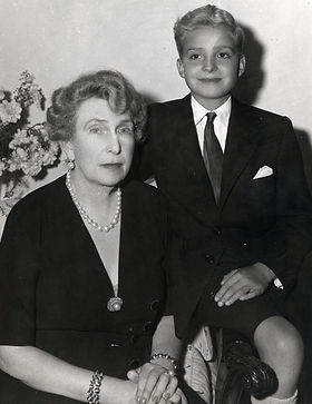 Victoria Eugénie with her grandson -  Infante Juan Carlos,  later King Juan Carlos I of Spain ​