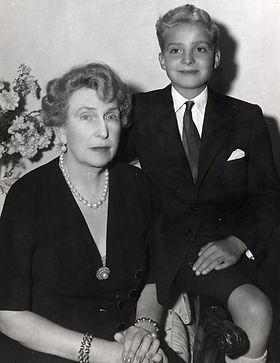 Victoria Eugénie with her grandson -  Infante Juan Carlos,  later King Juan Carlos I of Spain 