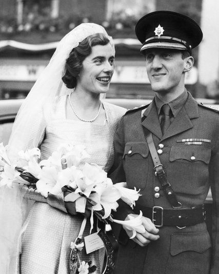 A photograph from the wedding of The Hon. Patricia Mountbatten & John, 7th Lord Brabourne ​