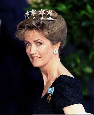 Penelope, Countess Mountbatten of Burma in Stockholm 1996 for the 50th celebrations of King Carl XVI Gustaf, The King of Sweden