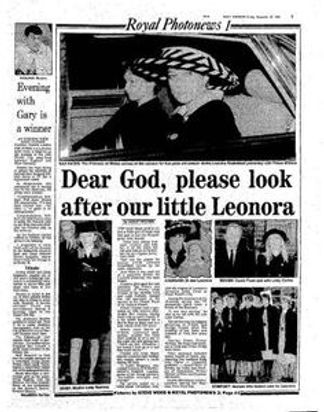 A newspaper report about the funeral of The Hon. Leonora Knatchbull