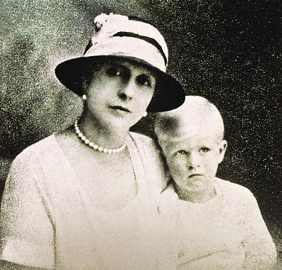 Alice with her only son -  Prince Philip (now Duke of Edinburgh)  