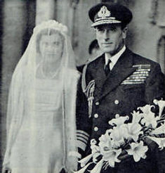 Patricia & Mountbatten on her wedding day 