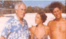 Mountbatten with Lady Amanda Knatchbull (centre) and Prince Charles, The Prince of Wales (right) whilst on holiday in The Commonwealth of the Bahamas 