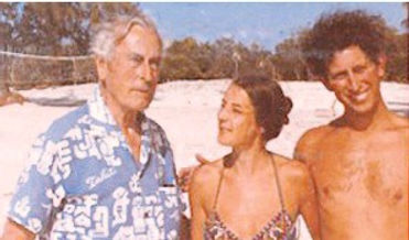 Mountbatten with Lady Amanda Knatchbull (centre) and Prince Charles, The Prince of Wales (right) whilst on holiday in The Commonwealth of the Bahamas ​