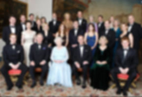 Queen Elizabeth II & Prince Philip, Duke of Edinburgh with their children, grandchildren and other members of the Royal Family at Clarence House, London (hosted by Prince Charles, The Prince of Wales & Camilla, The Duchess of Cornwall) celebrating the Royal Diamond Wedding Anniversary ​