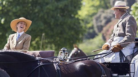 Penelope & Prince Philip, The Duke of Edinburgh sharing a joke whilst carriage driving 