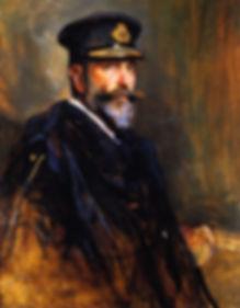 A portrait of Mountbatten's father - Louis, 1st Marquess of Milford Haven (Prince Louis of Battenberg) by Philip de László