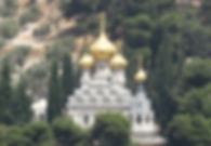 The Church of St Mary Magdalene on the Mount of Olives, Jerusalem 