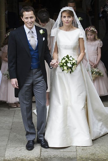 Thomas Hooper & The Lady Alexandra Hooper on their wedding day in July 2016