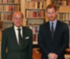  Philip with his grandson -  Prince Harry, Duke of Sussex upon his appointment as Captain-General of HM Royal Marines, succeeding Philip 