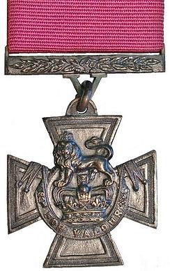 The insignia of The Victoria Cross (VC) 