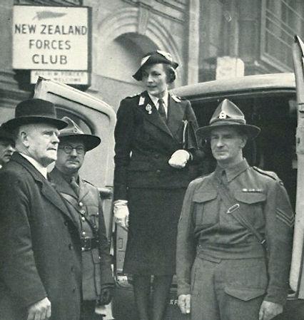 Edwina at work with the St John's Ambulance Brigade