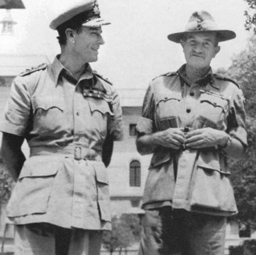 Mountbatten with General Sir William Slim (right)