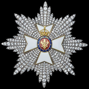 The insignia of a Knight Grand Cross of the Royal Victorian Order (GCVO)