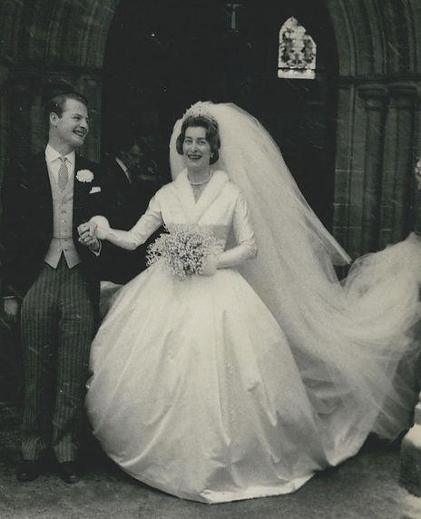 David Hicks & Pamela, following their wedding at Romsey Abbey